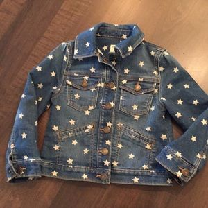Baby Gap star jean jacket, size 4 years